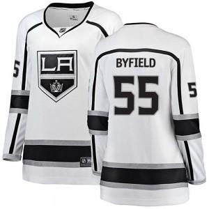 Quinton Byfield Los Angeles Kings Women's Fanatics Branded White Breakaway Away Jersey