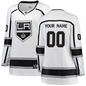 Women's Fanatics Branded Los Angeles Kings Customized Breakaway White Away Jersey
