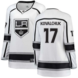 Ilya Kovalchuk Los Angeles Kings Women's Fanatics Branded White Breakaway Away Jersey