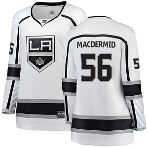 Kurtis MacDermid Los Angeles Kings Women's Fanatics Branded White Breakaway Away Jersey
