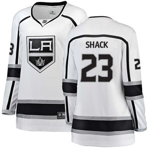 Eddie Shack Los Angeles Kings Women's Fanatics Branded White Breakaway Away Jersey