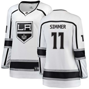 Charlie Simmer Los Angeles Kings Women's Fanatics Branded White Breakaway Away Jersey