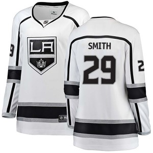 Billy Smith Los Angeles Kings Women's Fanatics Branded White Breakaway Away Jersey