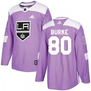 Brayden Burke Los Angeles Kings Men's Adidas Authentic Purple Fights Cancer Practice Jersey