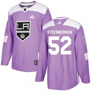 Tyler Steenbergen Los Angeles Kings Men's Adidas Authentic Purple Fights Cancer Practice Jersey