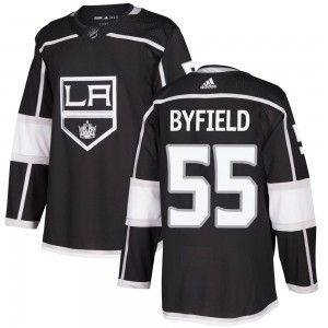 Quinton Byfield Los Angeles Kings Men's Adidas Authentic Black Home Jersey
