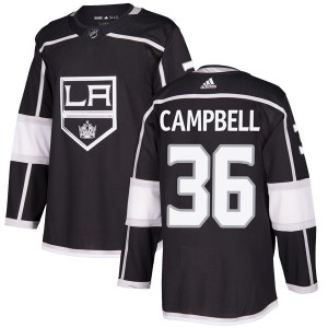 Jack Campbell Los Angeles Kings Men's Adidas Authentic Black Home Jersey