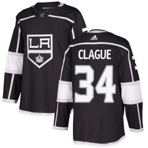 Kale Clague Los Angeles Kings Men's Adidas Authentic Black Home Jersey