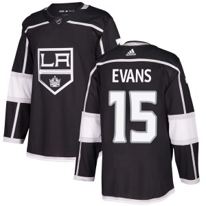Daryl Evans Los Angeles Kings Men's Adidas Authentic Black Home Jersey