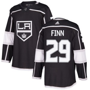 Steven Finn Los Angeles Kings Men's Adidas Authentic Black Home Jersey