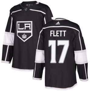 Bill Flett Los Angeles Kings Men's Adidas Authentic Black Home Jersey