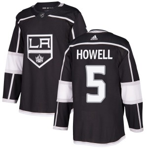 Harry Howell Los Angeles Kings Men's Adidas Authentic Black Home Jersey