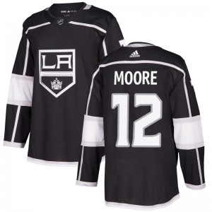 Trevor Moore Los Angeles Kings Men's Adidas Authentic Black Home Jersey