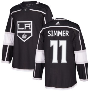 Charlie Simmer Los Angeles Kings Men's Adidas Authentic Black Home Jersey