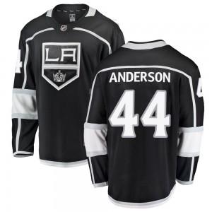 Mikey Anderson Los Angeles Kings Men's Fanatics Branded Black ized Breakaway Home Jersey