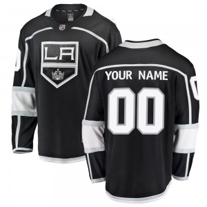 Men's Fanatics Branded Los Angeles Kings Customized Breakaway Black Home Jersey