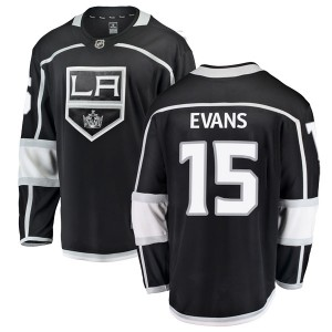Daryl Evans Los Angeles Kings Men's Fanatics Branded Black Breakaway Home Jersey
