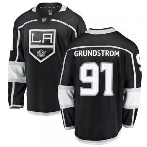 Carl Grundstrom Los Angeles Kings Men's Fanatics Branded Black Breakaway Home Jersey