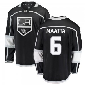 Olli Maatta Los Angeles Kings Men's Fanatics Branded Black Breakaway Home Jersey