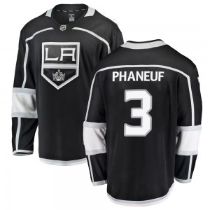Dion Phaneuf Los Angeles Kings Men's Fanatics Branded Black Breakaway Home Jersey