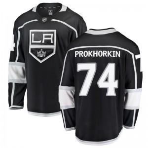 Nikolai Prokhorkin Los Angeles Kings Men's Fanatics Branded Black Breakaway Home Jersey