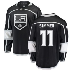 Charlie Simmer Los Angeles Kings Men's Fanatics Branded Black Breakaway Home Jersey