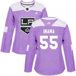 Bokondji Imama Los Angeles Kings Women's Adidas Authentic Purple Fights Cancer Practice Jersey