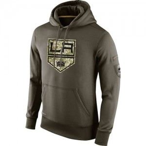 Los Angeles Kings Men's Nike Olive Salute To Service KO Performance Hoodie