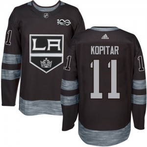 Anze Kopitar Los Angeles Kings Men's Adidas Authentic Black 1917-2017 100th Anniversary Jersey