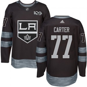 Jeff Carter Los Angeles Kings Men's Adidas Authentic Black 1917-2017 100th Anniversary Jersey