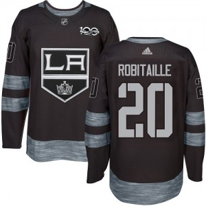 Luc Robitaille Los Angeles Kings Men's Adidas Authentic Black 1917-2017 100th Anniversary Jersey