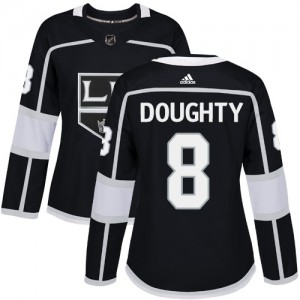 Drew Doughty Los Angeles Kings Women's Adidas Authentic Black Home Jersey