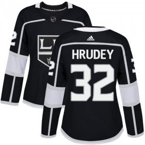 Kelly Hrudey Los Angeles Kings Women's Adidas Authentic Black Home Jersey