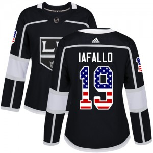 Alex Iafallo Los Angeles Kings Women's Adidas Authentic Black USA Flag Fashion Jersey