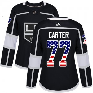 Jeff Carter Los Angeles Kings Women's Adidas Authentic Black USA Flag Fashion Jersey