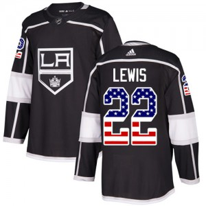 Trevor Lewis Los Angeles Kings Men's Adidas Authentic Black USA Flag Fashion Jersey