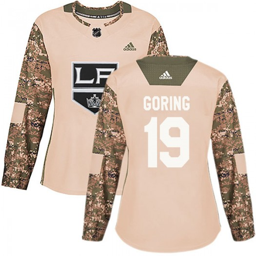 Butch Goring Los Angeles Kings Women's Adidas Authentic Camo Veterans Day Practice Jersey
