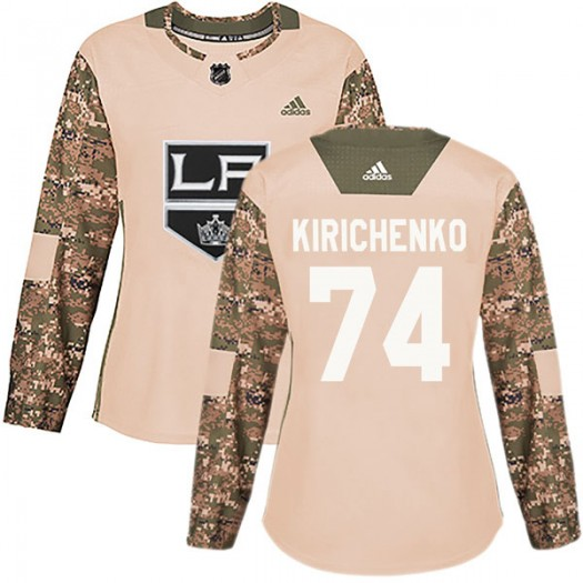 Clayton Kirichenko Los Angeles Kings Women's Adidas Authentic Camo Veterans Day Practice Jersey