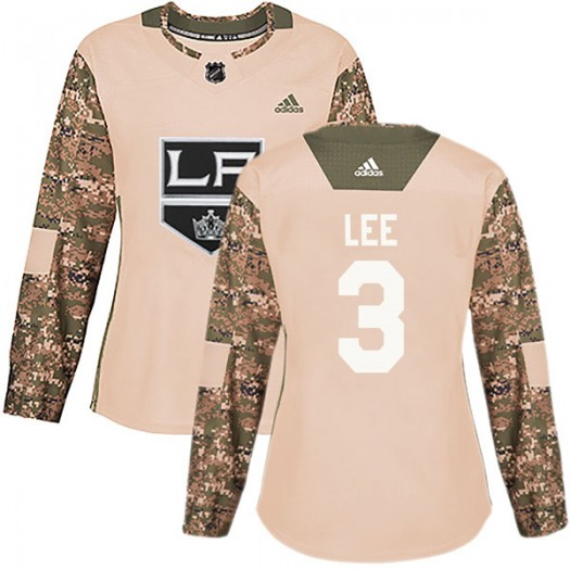 Chris Lee Los Angeles Kings Women's Adidas Authentic Camo Veterans Day Practice Jersey
