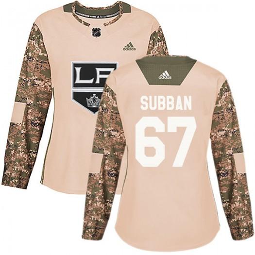 Jordan Subban Los Angeles Kings Women's Adidas Authentic Camo Veterans Day Practice Jersey