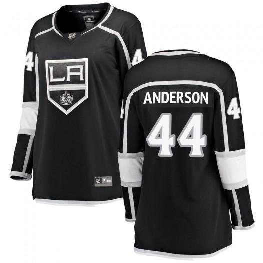 Mikey Anderson Los Angeles Kings Women's Fanatics Branded Black ized Breakaway Home Jersey