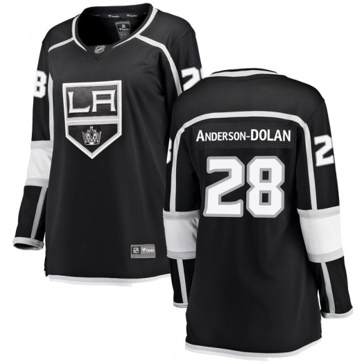 Jaret Anderson-Dolan Los Angeles Kings Women's Fanatics Branded Black Breakaway Home Jersey
