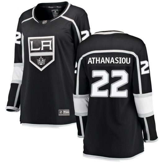Andreas Athanasiou Los Angeles Kings Women's Fanatics Branded Black Breakaway Home Jersey