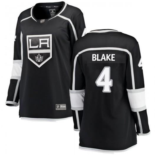 Rob Blake Los Angeles Kings Women's Fanatics Branded Black Breakaway Home Jersey