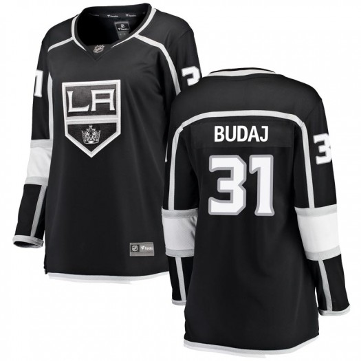 Peter Budaj Los Angeles Kings Women's Fanatics Branded Black Breakaway Home Jersey