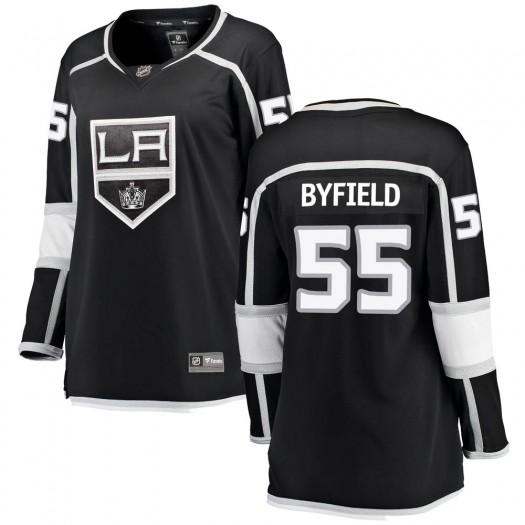 Quinton Byfield Los Angeles Kings Women's Fanatics Branded Black Breakaway Home Jersey
