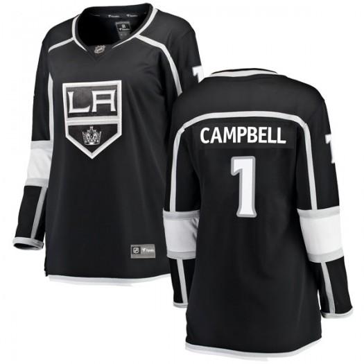 Jack Campbell Los Angeles Kings Women's Fanatics Branded Black Breakaway Home Jersey