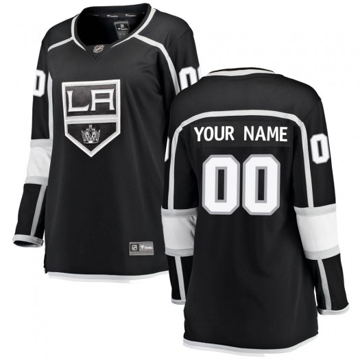 Women's Fanatics Branded Los Angeles Kings Customized Breakaway Black Home Jersey