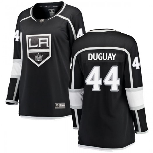 Ron Duguay Los Angeles Kings Women's Fanatics Branded Black Breakaway Home Jersey