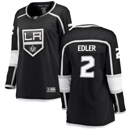 Alexander Edler Los Angeles Kings Women's Fanatics Branded Black Breakaway Home Jersey